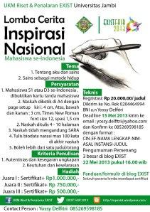 LOMBA MENULIS CERITA INSPIRASI TINGKAT MAHASISWA SE-INDONESIA